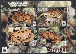 Aitutaki 2014 Yvertn° Bloc 103 *** MNH Cote 11 Euro Faune Marine  WWF Crustacés Krabben Crabes - Aitutaki
