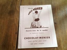 Buvard Sous-main Chocolat Menier - Chocolat