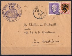 FRANCE  602 Et 689 Sur Lettre  Tribunal Militaire - Postmark Collection (Covers)