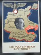 """Propaganda Postkarte Hitler 1938 """"Nun Sind Wir Frei"""" + Sonderstempel - Allemagne"""