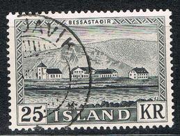 Island 277 Gestempelt - 25 Kr. Parlament 1952 - 1944-... Republique