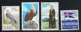 Island 328, 339, 398, 399 Gestempelt - Diverse Hochwerte - 1944-... Republique
