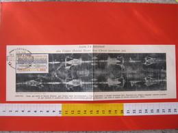 A.11 ITALIA ANNULLO - 1978 TORINO ESPOSIZIONE SACRA SINDONE LENZUOLO GESU CRISTO MAXIMUM CARD DOPPIA - RARA - Cristianesimo
