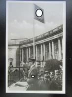 Propaganda Postkarte Hitler Mit SA Stabchef Lutze Wien 1938 + Sondermarke - Allemagne