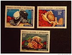Nieuw-Caledonië Nouvelle-Caledonië 1974 Schelpen Coquillages Yv LP PA 150-152 MNH ** - New Caledonia