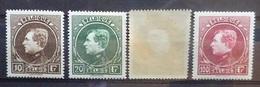 BELGIE 1929    Nr.  289 - 292   Licht Spoor Van Scharnier *   Tand. 14 1/2    CW  240,00 - 1929-1941 Grand Montenez