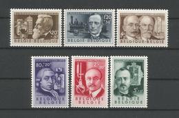Belgium 1955 Scientists OCB 973/978 ** - Belgique