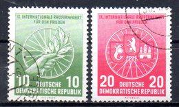 """(DDR-BM1) DDR """"Internationale Radfernfahrt Für Den Frieden Warschau-Berlin-Prag"""" Mi 521/22 Bedarfsgestempelt - [6] Repubblica Democratica"""