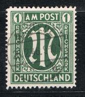 Bizone 35 Gestempelt – 1 Mark AM-Post, Deutscher Druck 1946 - American/British Zone