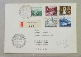 Raccomandata Lenzerheide-Padova - 18/07/1954 Affrancata Con Pro Patria 1954 - Pro Patria