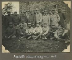 Guerre De 1914-18 . Groupe De Soldats Du 31e RI à Auzéville Près Clermont-en-Argonne (Meuse). 1915 . - Guerra, Militari