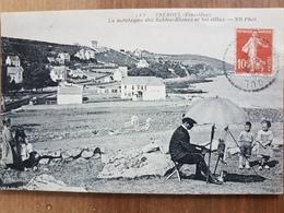 Tréboul.Douarnenez.la Montagne Des Sables Blancs.peintre Au Travail.édition ND 183 - Tréboul