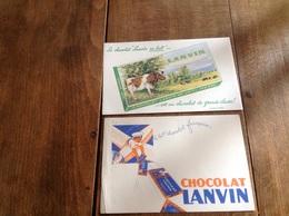Buvards Chocolat Lanvin - Chocolat