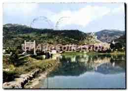CPA Haute Provence Volonne B Alp Vue Pittoresque Sur Volonne Et Son Pont Suspendu Qui Enjambe La Dur - Other Municipalities