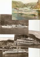 Boot / Bateau / Ship : Köln - Düsseldorfer Rheindampfschipffahrt : ---- 8 Cards - Paquebots
