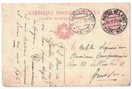 IZ65   Regno 1919 - Cartolina Postale  S. Marco In Lamis Annullo Frazionario (26-45) - Marcofilía
