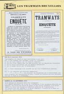 """Tramways Bruxellois - Page De Collection : Lot De 2 Affiches + Réduction """"Administrations De La Voirie Communale / Commu - Plakate"""