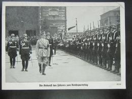 Propaganda Postkarte Reichsparteitag 1938 Hitler Himmler Leibstandarte - Stempel Sudetenland Eger - Erhaltung II - Germany