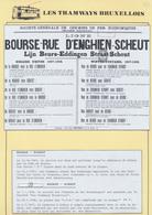 """Tramways Bruxellois - Page De Collection : Lot De 2 Affiches + Réduction """"Ligne Bourse - Rue D'Enghien-Scheut"""" - Plakate"""