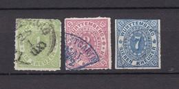 Württemberg - 1869/73 - Michel Nr. 36 + 38/39 - Gest. - 27 Euro - Wuerttemberg