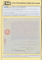 """Tramways Bruxellois - Page De Collection : Prolongement De La Line N°76 """"Bourse - Parc D'Anderlecht"""" > Place Vaillance J - Affiches"""