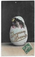 Paques Femme Sortant D' Un Oeuf Avec Ajoutis Dorure Joyeuses Paques Edition NPG 1075/1 - Pâques