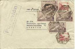 1941  Air Mail Letter From Barcelona To Zürich - 1931-Aujourd'hui: II. République - ....Juan Carlos I