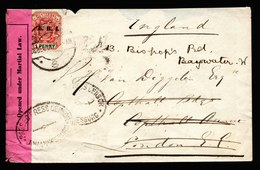 A6523) UK South Africa Brief Johannesburg 28.12.01 N. London M. Zensur - Storia Postale
