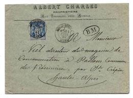 Algérie Lettre Bordj-Bouira 1892 ( Bosc Ind.19 ! ) Sage + Boîte Mobile - Lettres & Documents