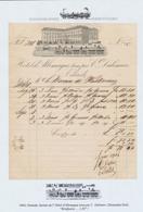 Belgique - Facture Illustrée (Ostende 1844 ?) : Hotel L'Allemagne Tenu Par C. Dalimier, Thématique Tramway. TB - Belgio