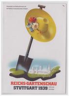 Dt- Reich (002571) Propagandakarte Reichsgartenschau Stuttgart 1939, Gelaufen Mit Sonderstempel Stuttgart Am 4.9.1939 - Briefe U. Dokumente