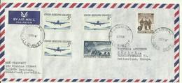 1967  Air Mail Letter To Zürich With Cocos (Keeling) Islands Stamps - Territoire Antarctique Australien (AAT)