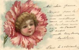 Fantaisie - Fillette - Fleur - D 3128 - Portraits