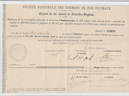 Belgique - Société Nationale Des Chemins De Fer Vicinaux : Ligne Bruxelles-Enghien, Commune D'Anderlecht (25/11/1886) - Bahnwesen & Tramways