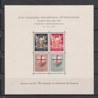 1952. HOJITA XXXV CONGRESO EUCARÍSTICO INTERNACIONAL BARCELONA. BENEFICENCIA. MUY RARA - Wohlfahrtsmarken