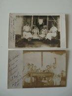 GRECE SALONIQUE LOT 2 CARTES PHOTOS ANCIENNES ANNEE 1916 ANIMATIONS MILITAIRES - Griechenland