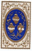 JESUS MARIE JOSEPH    IMAGE  XIXéme COULEUR  ORNEE DE DORURE - Images Religieuses