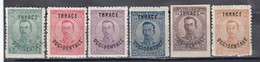"""Thrace 1920 - Bulgarian Stamps With Overprint """"THRACE OCCIDENTALE"""", Mi-Nr. 20/25, MNH** - Thracië"""