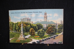 JA 89 - Angleterre - Worcester - Soldier' Monument And Common - Circulé 1946 - Worcester