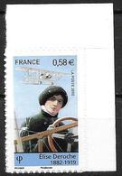 France 2010 Adhésif N° 485 Neuf Elise Deroche Cote 4 Euros - France