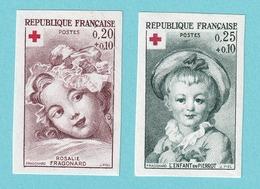 1962, YT No. 1366/1367, Red Cross, MNH - France