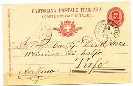1900 PORTOCANNONE CAMPOBASSO MOLISE CERCHIO GRANDE CON TESTO - Storia Postale