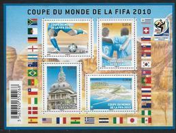 France 2010 Bloc Feuillet N° F4481  Neuf Coupe Du Monde De Foot Ball à La Faciale - Sheetlets