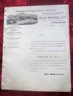 1904 Facture Illustrée Document Commercial Saint-Florent Cher-Cie B.M-Fonderie Cuivre-Bronze-Fonte,aluminium,Acétylène - Frankrijk