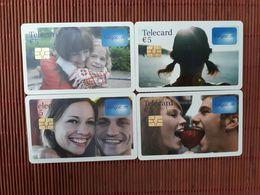 Set 4 Phonecards Belgium Low Issue Used Rare - Avec Puce