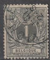 COB N°  43 Oblitération VICHTE - 1869-1888 Liggende Leeuw