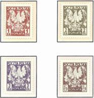 Polonia. Poland. 1980. Mi 165 / 168. Postage Due. State Arms. Eagle - Fiscales