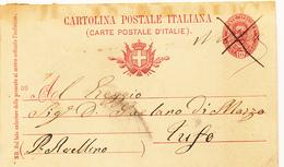 PATERNOPOLI AVELLINO CARTOLINA POSTAE CON GRAFICO NULLA + CROCI X MANCANZA DI TIMBRO POSTALE - Storia Postale