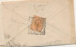 1893 PIETRAMELARA CASERTA TONDO RIQUADRATO CON TESTO - Storia Postale