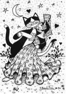 Jacqueline Bourdillon - CHATS Dessinés - Ici Chat Danse : N'1 Le Paso-doble - Chats